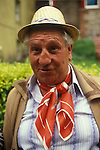 Gypsy man at the Appleby Fair, Cumbria, with a serious broken nose and ruddy complexion. UK