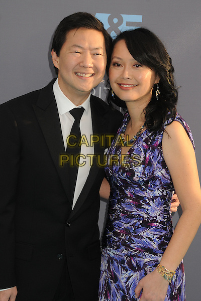 17 January 2016 - Santa Monica, California - Ken Jeong, Tran Jeong. 21st Annual Critics' Choice Awards - Arrivals held at Barker Hangar. <br /> CAP/ADM/BP<br /> &copy;BP/ADM/Capital Pictures
