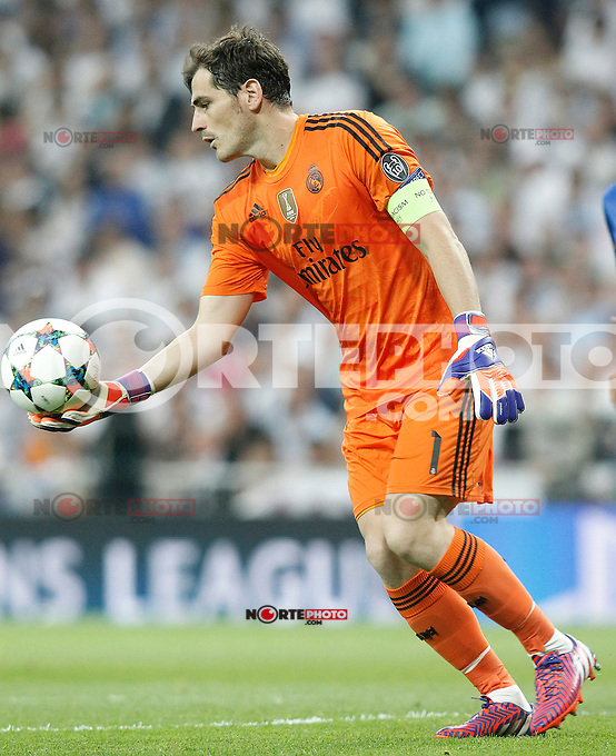 Real Madrid's Iker Casillas during Champions League 2014/2015 Semi-finals 2nd leg match.May 13,2015. (ALTERPHOTOS/Acero) /NortePhoto.COM