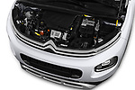 Car stock 2018 Citroen C3 Aircross Shine 5 Door SUV engine high angle detail view