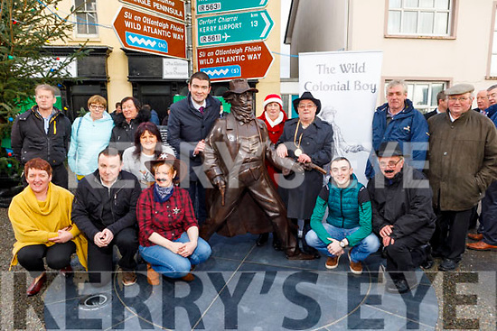 The Castlemaine Committee sttending the unveiling of the Jack Duggan Statue in Castlemaine  on Sunday..
