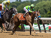 ELMONT, NY - JUNE 10: War Story #7, ridden by Javier Castellano, wins the Brooklyn Invitational Stakes on Belmont Stakes Day at Belmont Park on June 10, 2017 in Elmont, New York (Photo by Sue Kawczynski/Eclipse Sportswire/Getty Images)
