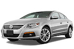 Low aggressive front three quarter view of a 2009 volkswagen cc luxary.