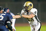 Lawndale, CA 10/21/11 - Will Cummins (Peninsula #83) in action during the Peninsula - Leuzinger varsity football game.