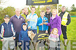 WINNER: Danny O'Shea who was presented with the Working Members Stakes Perpetual Parish Cup from Treasures of Abbeydorney Coursing Club Ger McCarthy at Abbeydorney on Sunday.L-r: Greg Moriarty, Ger McCarthy, John O'Shea, John Moriarty, Danny O'Shea, Aaron Moriarty,John Moriarty, Sheila O'Connell,Molly Moriarty and Dan McCarthy...