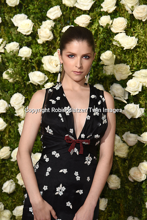 Anna  Kendrick attends the 71st Annual  Tony Awards on June 11, 2017 at Radio City Music Hall in New York, New York, USA.<br /> <br /> photo by Robin Platzer/Twin Images<br />  <br /> phone number 212-935-0770
