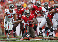 TAMPA, FL - NOVEMBER 17: Running Back Bobby Rainey #43 of the Tampa Bay Buccaneers during the game against the Atlanta Falcons at Raymond James Stadium on November 17, 2013, in Tampa, Florida. The Buccaneers won 41-28. (photo by Matt May/Tampa Bay Buccaneers)
