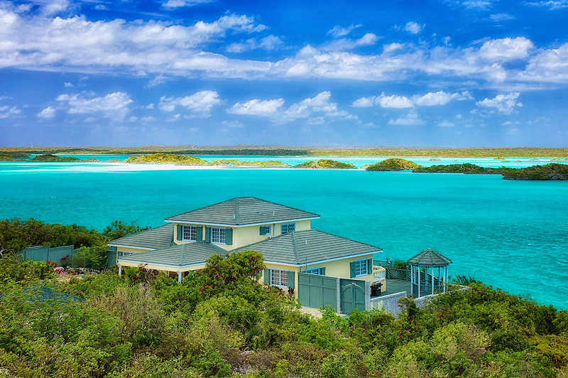 House on Chalk Sound. Providenciales. Turks and Caicos.