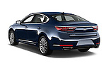 Car pictures of rear three quarter view of 2018 KIA Cadenza Premium 4 Door Sedan Angular Rear
