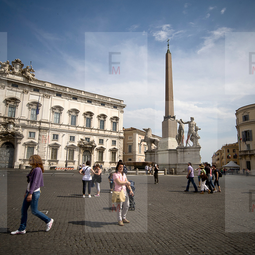 Obelisco sulla piazza del Quirinale<br /> The obelisk on the Quirinale square