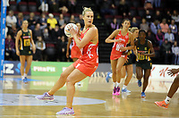 03.09.2017 England's Chelsea Pitman in action during the Quad Series netball match between England and South Africa at the ILT Stadium Southland in Invercargill. Mandatory Photo Credit ©Michael Bradley.