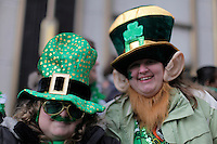 Revelers take part during the 252nd annual St. Patrick's Day Parade March 16, 2013 in New York City . VIEWpress/ Kena Betancur.