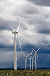 Giant wind turbines, southwestern Wyoming