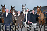 LEADERS: Leaders of the Kerry Harriers Pony Club Hunt in Ballyheigue on Sunday l-r: Mike Curtin, Listowel), Des Murphy (Tarbert), Gary Kelliher (Listowel) and Eugene Stack (Lixnaw).