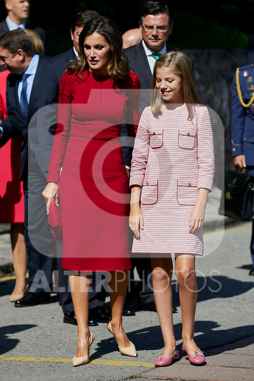 Queen Letizia of Spain and Princess Sofia of Spain visit Covadonga, Spain. September 08, 2018. (ALTERPHOTOS/A. Perez Meca)