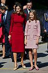 Queen Letizia of Spain and Princess Sofia of Spain visit Covadonga, Spain. September 08, 2018. (ALTERPHOTOS/A. Perez Meca)