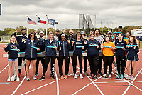 SAN ANTONIO, TX - MARCH 23, 2019: The University of Texas at San Antonio Roadrunners compete in the Roadrunner Invitational Track & Field Meet at the Park West Athletics Complex. (Photo by Jeff Huehn)