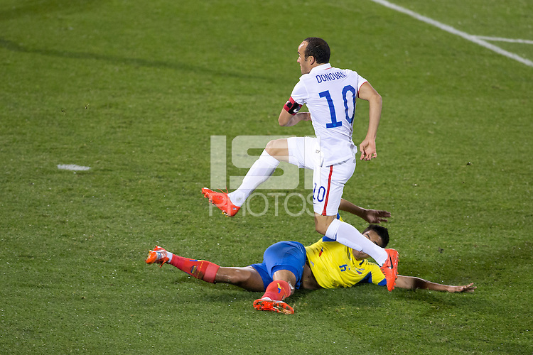 East Hartford, CT. - Friday, October 10, 2014: The US Men's National team and National team of Ecuador played to a 1-1 tie during an International friendly at Rentschler Field.