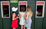 ELMONT, NY - JUNE 09: Fans place a wager on Belmont Stakes Day at Belmont Park on June 9, 2018 in Elmont, New York. (Photo by Scott Serio/Eclipse Sportswire/Getty Images)