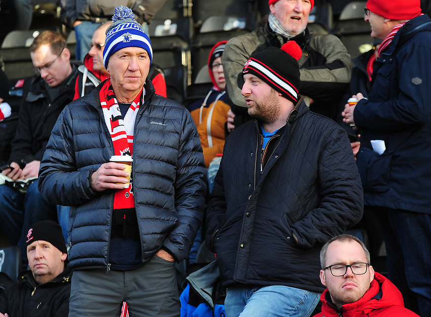 Lincoln City fans enjoy the pre-match atmosphere<br /> <br /> Photographer Andrew Vaughan/CameraSport<br /> <br /> The EFL Sky Bet League Two - Lincoln City v Newport County - Saturday 22nd December 201 - Sincil Bank - Lincoln<br /> <br /> World Copyright © 2018 CameraSport. All rights reserved. 43 Linden Ave. Countesthorpe. Leicester. England. LE8 5PG - Tel: +44 (0) 116 277 4147 - admin@camerasport.com - www.camerasport.com
