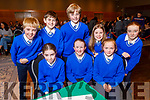 Sliabh A' Mhadra NS Ballyduff students taking part in the Chapter 23 Credit union finals in the Ballyroe Heights Hotel on Sunday.<br /> Seated l to r: Grace Diggins, Niamh Condon and Tara Kirby.<br /> Back l to r: Ruán Houlihan, Jake Segal, David Kearney, Siún Toomey and Ava O'Carroll.