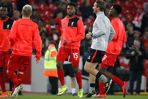 25.10.2016. Anfield, Liverpool, England. EFL Cup. Liverpool versus Tottenham Hotspur. Liverpool forward Daniel Sturridge, who makes a return to the Liverpool starting line up tonight.