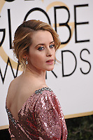 Claire Foy at the 74th Golden Globe Awards  at The Beverly Hilton Hotel, Los Angeles USA 8th January  2017<br /> Picture: Paul Smith/Featureflash/SilverHub 0208 004 5359 sales@silverhubmedia.com
