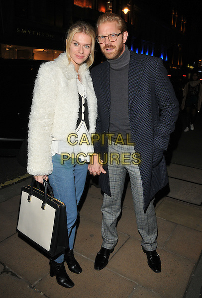 Barbora Bediova and Alistair Guy at the Jean-David Malat: BritARTnia private view, Opera Gallery, New Bond Street, London, England, UK, on Tuesday 22 November 2016. <br /> CAP/CAN<br /> &copy;CAN/Capital Pictures