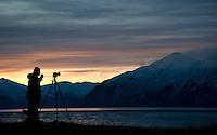 Shooting landscapes along Turnagain Arm, Alaska.