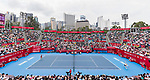 A general view of the staidum during the singles final match between Wang Qiang of China and Dayana Yastremska of Ukraineat the WTA Prudential Hong Kong Tennis Open 2018 at the Victoria Park Tennis Stadium on 14 October 2018 in Hong Kong, Hong Kong.