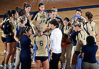 Florida International University women's volleyball Head Coach Danijela Tomic during the game against the University of South Alabama.  FIU won the match 3-0 on October 30, 2011 at Miami, Florida. .