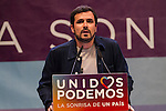 Spanish politician Alberto Garzon during the closing of the electoral campaign of Unidos Podemos. 24,06,2016. (ALTERPHOTOS/Rodrigo Jimenez)