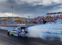 Jul 23, 2016; Morrison, CO, USA; NHRA funny car driver Courtney Force during qualifying for the Mile High Nationals at Bandimere Speedway. Mandatory Credit: Mark J. Rebilas-USA TODAY Sports