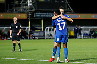GOAL - Callum Reilly of AFC Wimbledon during the The Leasing.com Trophy match between AFC Wimbledon and Leyton Orient at the Cherry Red Records Stadium, Kingston, England on 8 October 2019. Photo by Carlton Myrie / PRiME Media Images.