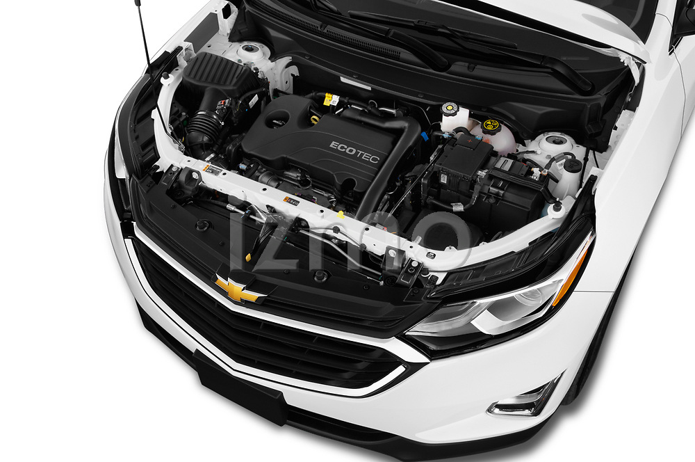 Car stock 2019 Chevrolet Equinox LT 5 Door SUV engine high angle detail view