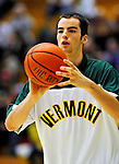 12 December 2010: University of Vermont Catamount forward Clancy Rugg, a Freshman from Burlington, VT, warms up prior to action against the Marist College Red Foxes at Patrick Gymnasium in Burlington, Vermont. The Catamounts (7-2) defeated the Red Foxes  75-67 notching their 7th win of the season, and their best start since the '63-'64 season. Mandatory Credit: Ed Wolfstein Photo