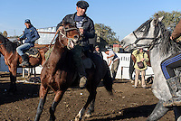 Wettkampf auf Pferden bei Viehmarkt in Karakol, Kirgistan, Asien<br /> riding competition at cattle market in Karakol, Kirgistan, Asia