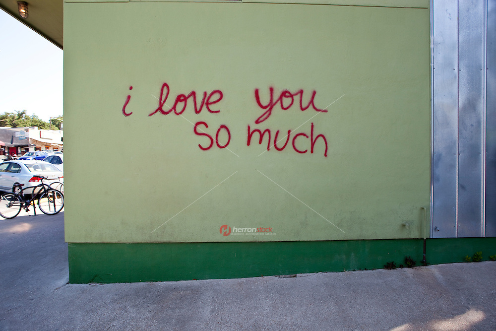 I love you so much mural in Austin is an local favorite artistic mural