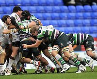 READING, ENGLAND :  Jamie Gibson of London Irish in action during the Amlin Challenge Cup match between London Irish and Bordeaux-Begles at Madejski Stadium on January 18, 2013 in Reading, England.