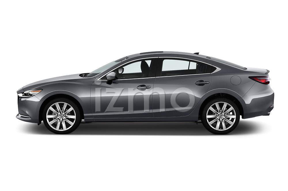 Car driver side profile view of a 2018 Mazda Mazda6 Grand Touring Reserve 4 Door Sedan