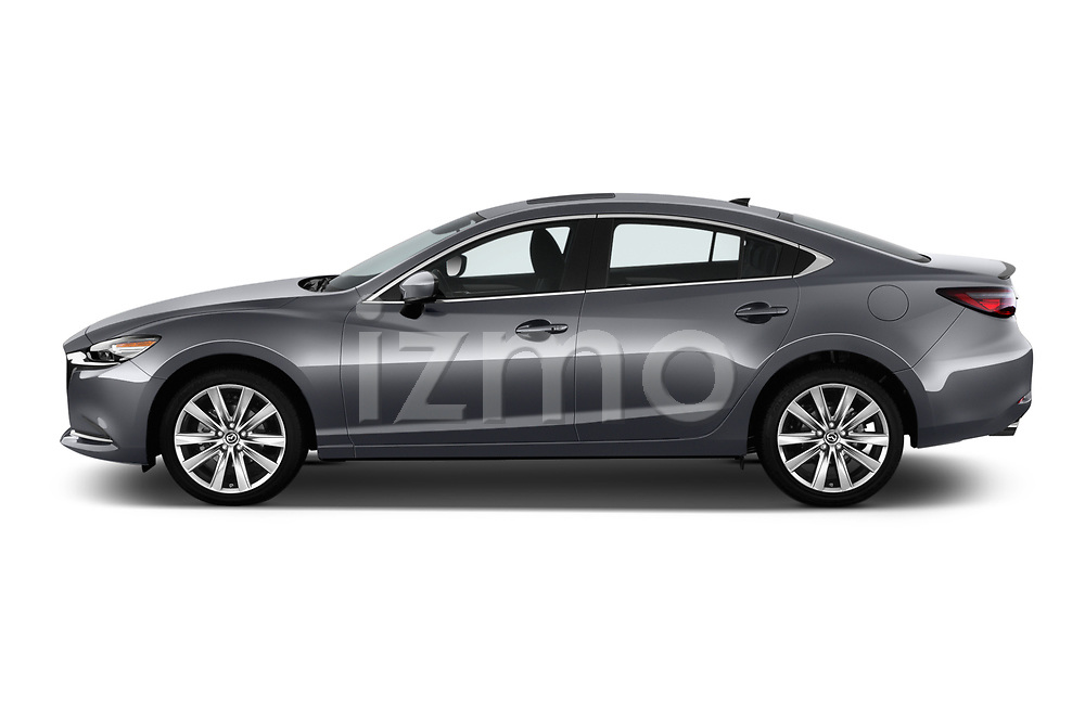 Car driver side profile view of a 2019 Mazda Mazda6 Grand Touring Reserve 4 Door Sedan