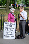 Christian preachers, Speakers' Corner, Hyde Park, London.
