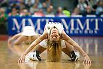 Cheerleaders durante el tiempo muerto. REAL MADRID - MONTEPASCHI SIENA. Euroleague 2012. 25 Enero,Palacio de los Deportes.