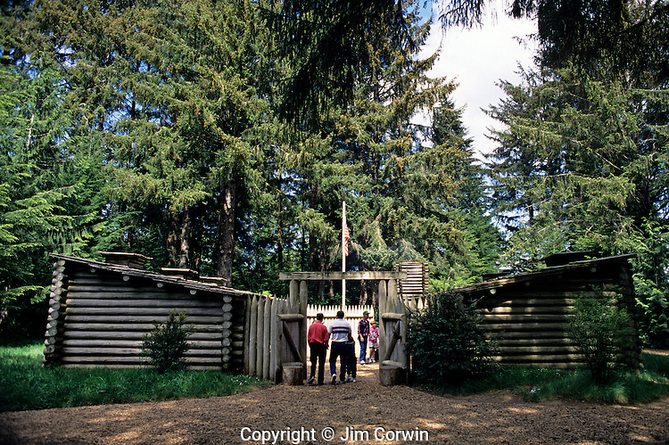 Fort Clatsop National Memorial Lewis and Clark wintered in 1806-1806 Astoria Oregon State USA