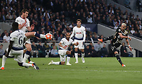 Hakim Ziyech of Ajax with a first half shot<br /> <br /> Photographer Rob Newell/CameraSport<br /> <br /> UEFA Champions League - Tottenham Hotspur v Ajax - Tuesday 30th April 2019 - White Hart Lane - London<br />  <br /> World Copyright © 2018 CameraSport. All rights reserved. 43 Linden Ave. Countesthorpe. Leicester. England. LE8 5PG - Tel: +44 (0) 116 277 4147 - admin@camerasport.com - www.camerasport.com