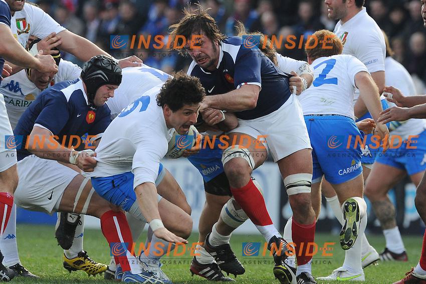 Alessandro Zanni (Italia)<br /> Italia vs Francia - Italy Vs France<br /> RBS 6 Nations Rugby Championship 2011<br /> Stadio Flaminio;<br /> Roma, 12/03/2011<br /> Photo Antonietta Baldassarre Insidefoto