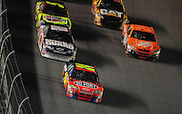 Feb 9, 2008; Daytona, FL, USA; Nascar Sprint Cup Series driver Jeff Gordon (24) leads teammate Dale Earnhardt Jr (88) and Tony Stewart during the Bud Shootout at Daytona International Speedway. Mandatory Credit: Mark J. Rebilas-US PRESSWIRE