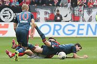 Ja-Cheol Koo (Mainz) gegen Javier Martinez (Bayern) - 1. FSV Mainz 05 vs. FC Bayern München, Coface Arena, 26. Spieltag