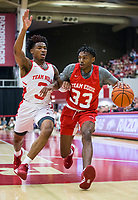 NWA Democrat-Gazette/BEN GOFF @NWABENGOFF<br /> Jimmy Whitt (33), Arkansas guard, drives past Desi Sills, Arkansas guard, in the first half Saturday, Oct. 5, 2019, during the annual Arkansas Red-White Game at Barnhill Arena in Fayetteville.
