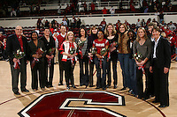 STANFORD, CA - FEBRUARY 7:  Members of the 1990 National Championship team reunite with Tara VanDerveer during Stanford's 77-39 win over USC on February 7, 2010 at Maples Pavilion in Stanford, California.